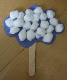 """Cloud Puppets- use with Eric Carle """"Little Cloud"""" book"""