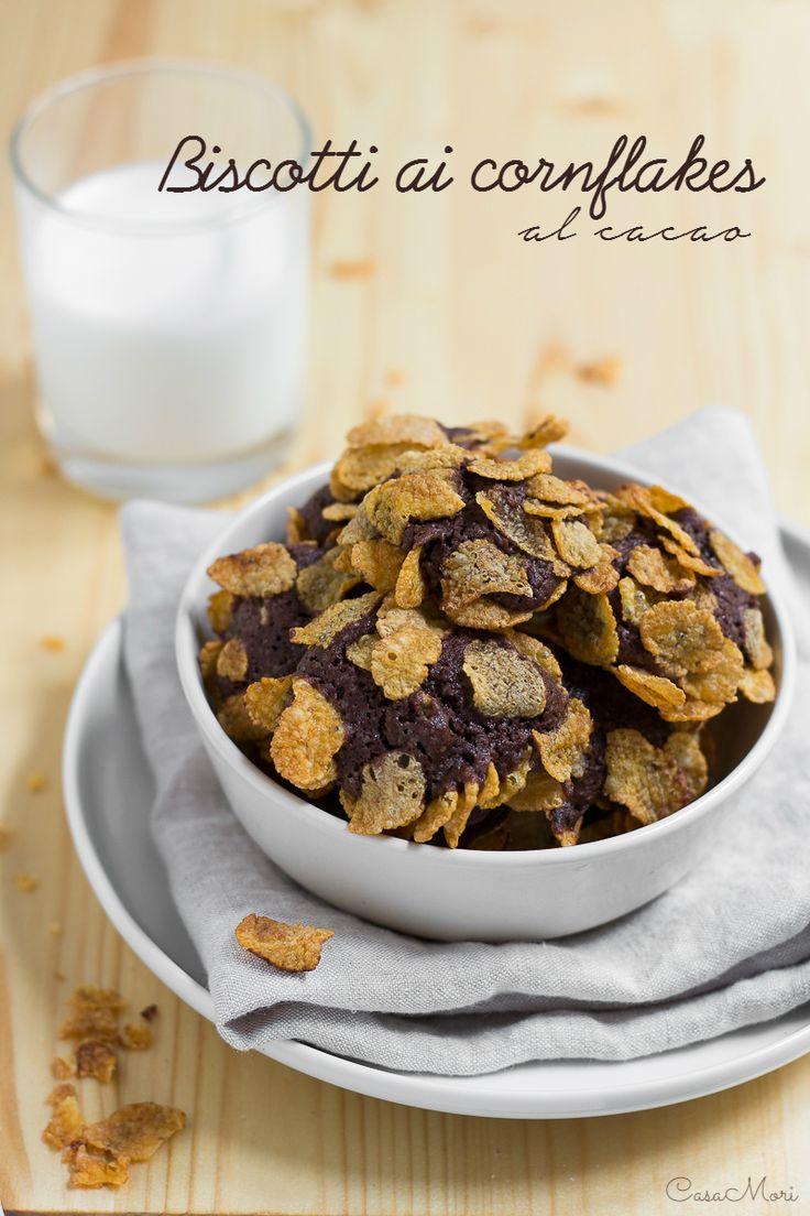 Biscotti ai cornflakes al cacao