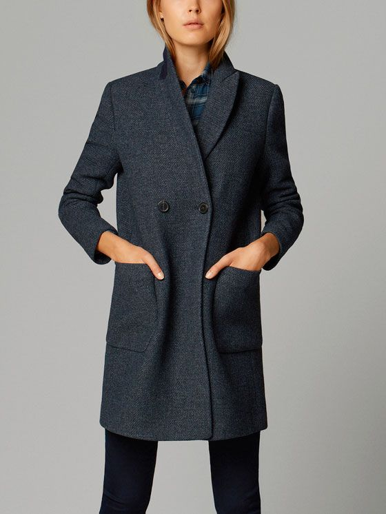 DOUBLE-BREASTED COAT $380 *quality basics