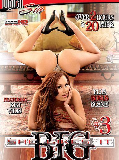 Pornstar Kiki Vidis for the New Sensations adult dvd cover She Likes It Big #3 . redhead model, sexy lingerie glamour photography www.kikividisofficial.com