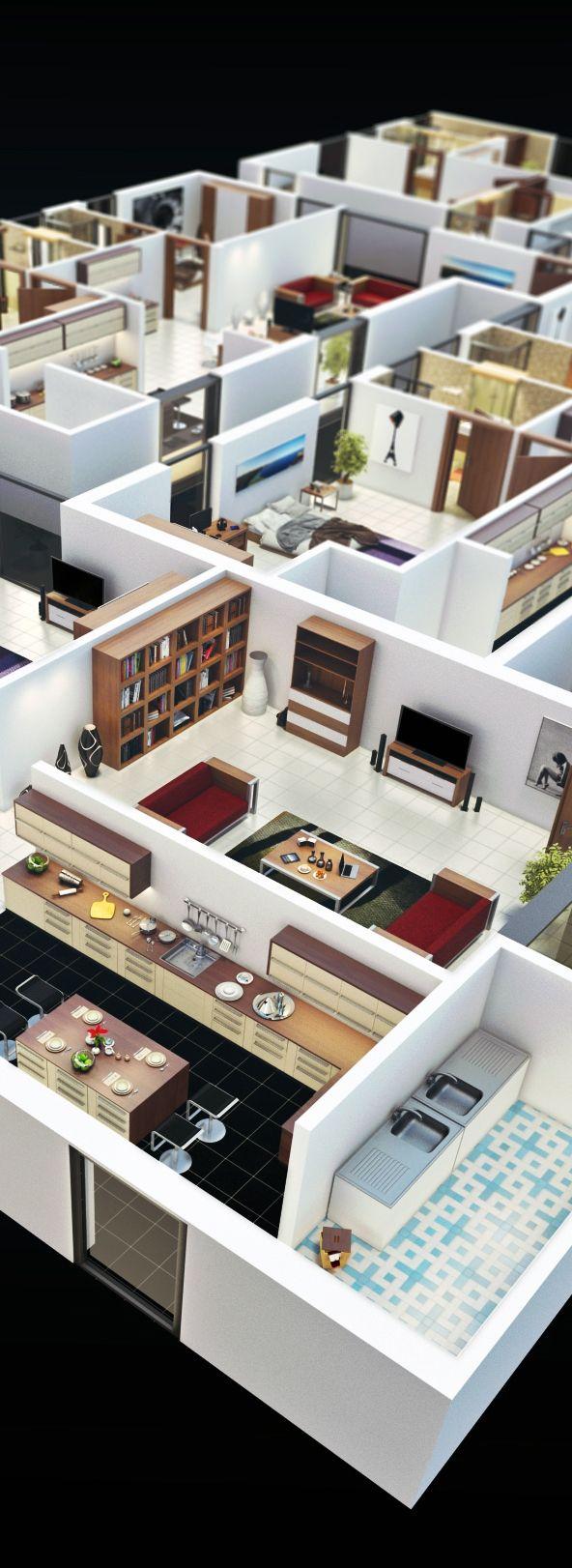 Isometric Floor Plan on Digital Art Served