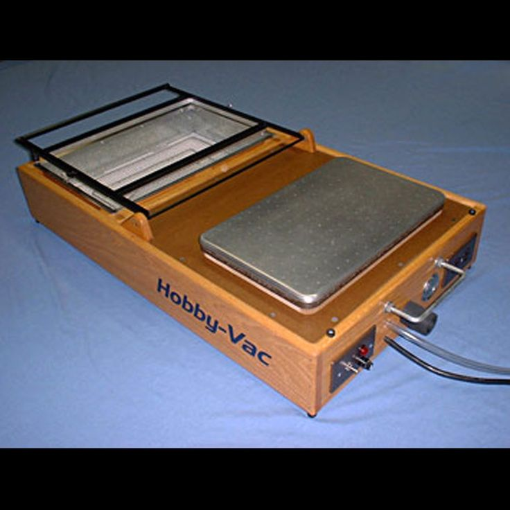 Plans for building a table top Hobby-Vac vacuum forming machine
