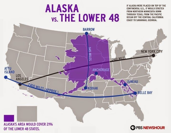 Alaska vs The Lower 48 | Maps | Pinterest | Alaska, Alaska ...