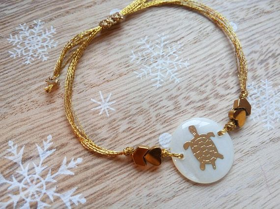 Turtle Bracelet Beaded Bracelet Turtle Jewelry Turtle