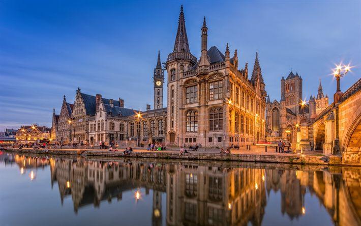 Hämta bilder Gents Universitet, Gand, gammal byggnad, sevärdheter, Hogeschool Gent, Belgien