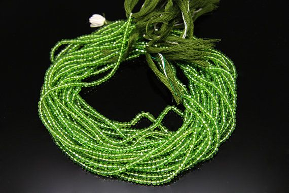 1strand  natural coated green quartz faceted rondel sized by 3yes