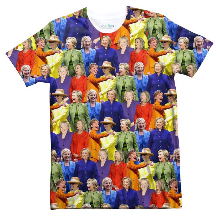 Hillary Clinton Rainbow Suits T-Shirt - Shelfies | All-Over-Print Everywhere - Designed to Make You Smile