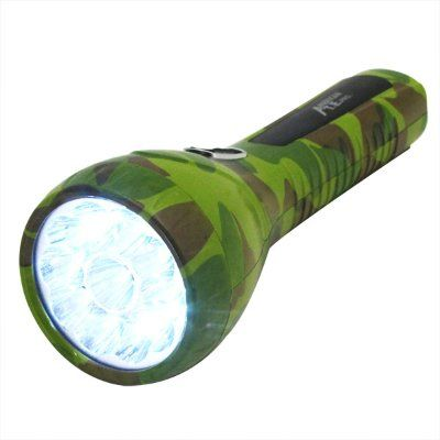Camping Flashlights - Pin It :-) Follow Us :-)) zCamping.com is your Camping Product Gallery ;) CLICK IMAGE TWICE for Pricing and Info :) SEE A LARGER SELECTION of camping flashlights at http://zcamping.com/category/camping-categories/camping-lighting/camping-flashlights/ - hunting, camping, flashlights, camping lighting, camping gear, camping accessories -  11 Large LED Camo Work Light Rechargeable Flash Light (Plugs Direct to Wall Socket) « zCamping.com