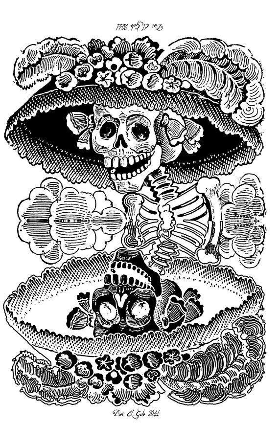 Dia de los Muertos Posadas Calavera Catrina T shirt Day of the Dead Mexican Artwork Tribute FREE US SHIPPING via Etsy