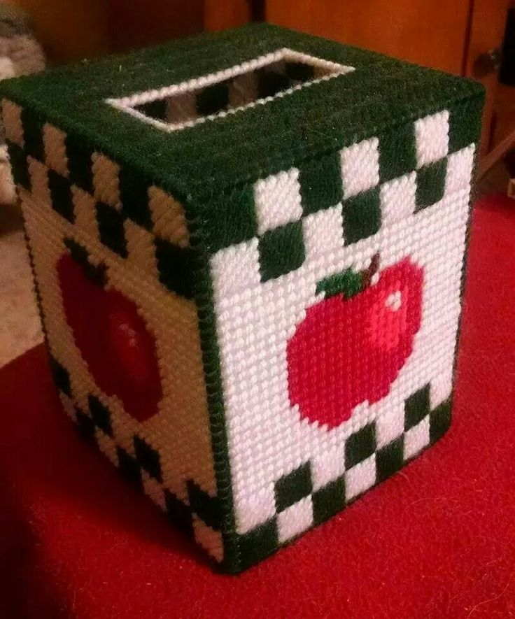 Apple Tissue Box Cover