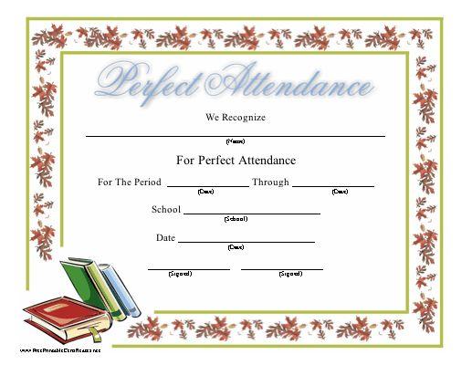 Mer Enn 25 Bra Ideer Om Attendance Certificate På Pinterest