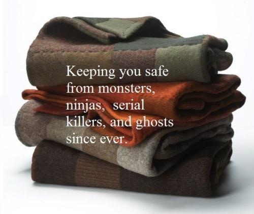 Keeping you safe from monsters, ninjas, serial killers and ghosts since ever..