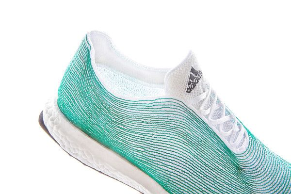 adidas shoe uppers made completely of recycled ocean waste
