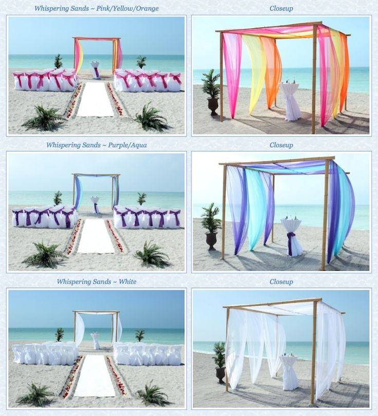 Destination Wedding Packages: Best 25+ Beach Wedding Arbors Ideas On Pinterest
