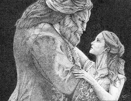 Beauty and the Beast fan art.    Emma Watson and Dan Stevens are truly beautiful together