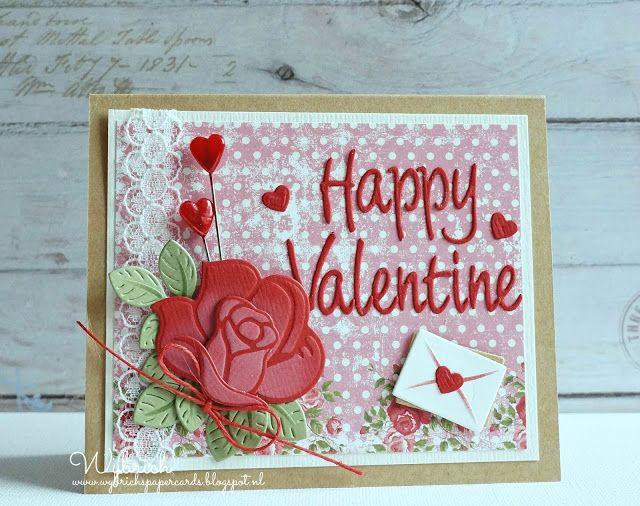 Cards made by Wybrich: Valentijns kaartje