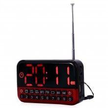 L - 80 Large LCD Screen MP3 Player Speaker FM Radio Receiver Desk Clock