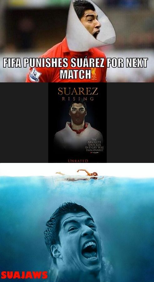 Internet goes meme-crazy after Uruguay's Luis Suarez bites Giorgio Chiellini. #WorldCup