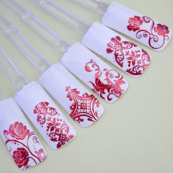108 PCS/Sheet 3D Design Nail Art Sticker Tips Decal Flower Manicure Stickers New