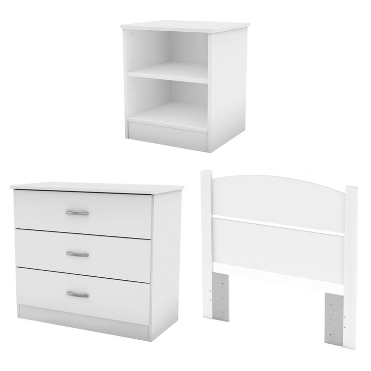South Shore Libra Collection Twin Bedroom in a Box - Pure White - 3050223