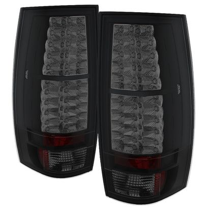2007-2014 Chevy Suburban, Tahoe / 2007-2014 GMC Yukon, Yukon Denali LED Tail Lights - Black Smoke