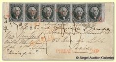 most expensive  chinese stamps | Rush Philatelic Stamp Cover, US 10 cent 1847 stamp, sold for 1.2 ...