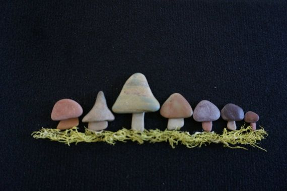 ENCHANTED Pebble Art Forest Nature by SoldierCreekDesigns on Etsy