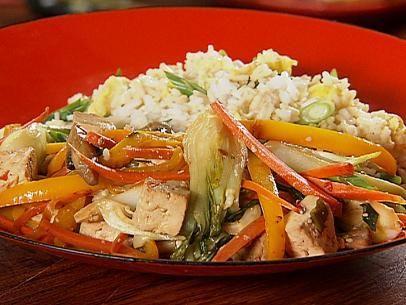 Tofu Stir-Fry with Fried Rice | Recipe