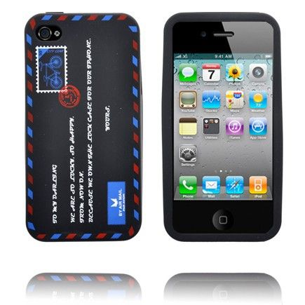 Envelop Design (Sort) iPhone 4S Deksel