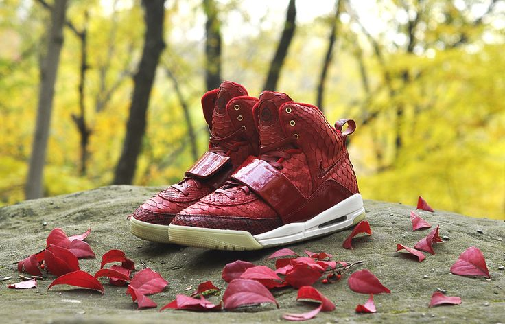 """Red October"" Nike Air Yeezy 1 Custom by JBF"