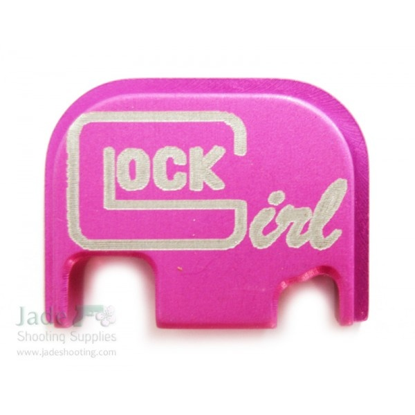 Rock Your Glock Pink Graphic Slide Cover Plate - Glock Girl