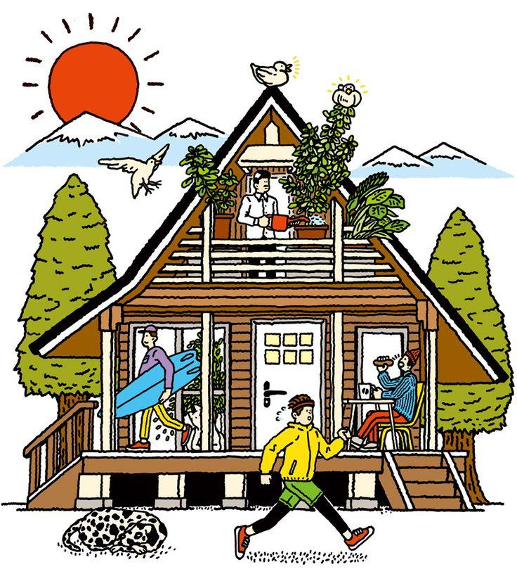 Editorial illustrations by Kaido Kenta - Japanese Design