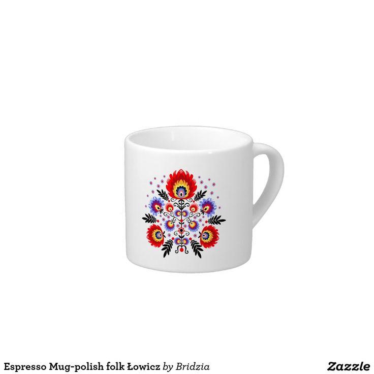 Espresso Mug-polish folk Łowicz Espresso Cup