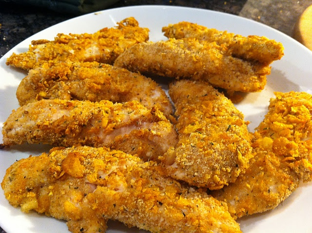 fried chicken oven fried crispy cornflake chicken oven fried herb ...