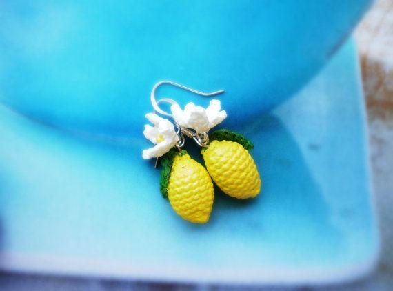 Orecchini a forma di limone di BarboraJewels su Etsy