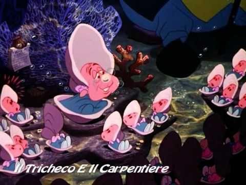 """Il Tricheco e il Carpentiere o Le ostrichette curiose nel film di animazione Disney """"Alice nel Paese delle Meraviglie"""" (1951)"""