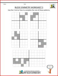 symmetry worksheet block symmetry 5