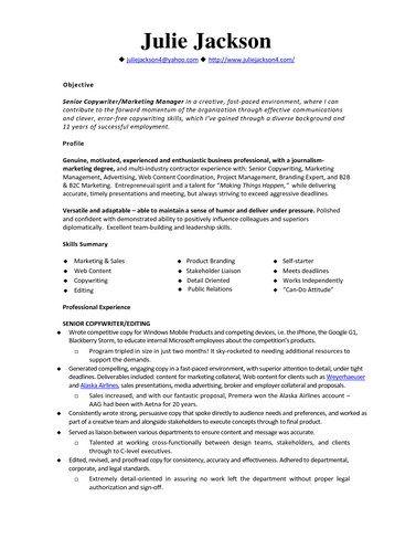 monster resume sample
