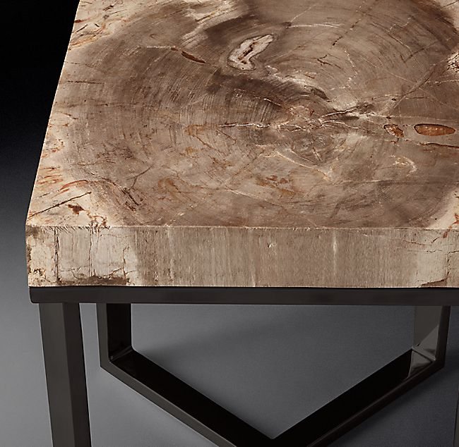 1970s Petrified Wood Slab Square Side Table With Images Square Side Table Wood Slab Petrified Wood