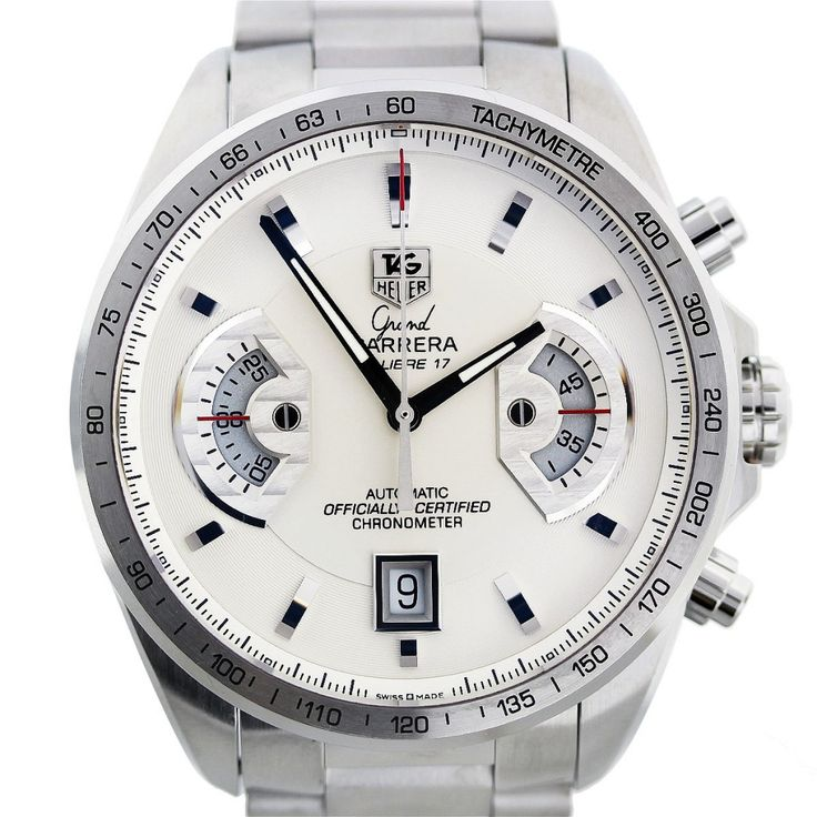 Tag Heuer Grand Carrera CAV511B Silver Dial Mens Watch