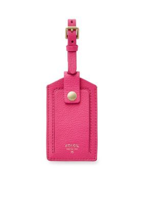 Fossil Women Luggage Tag - Hot Pink - One Size