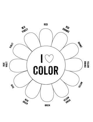 Color Wheel Worksheet | Tertiary Colors Blank Flower Color Wheel