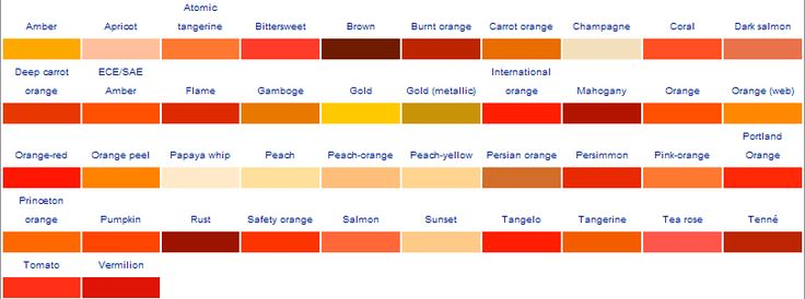 Beautiful shades of orange with orange is no longer orange for Shades of all colors