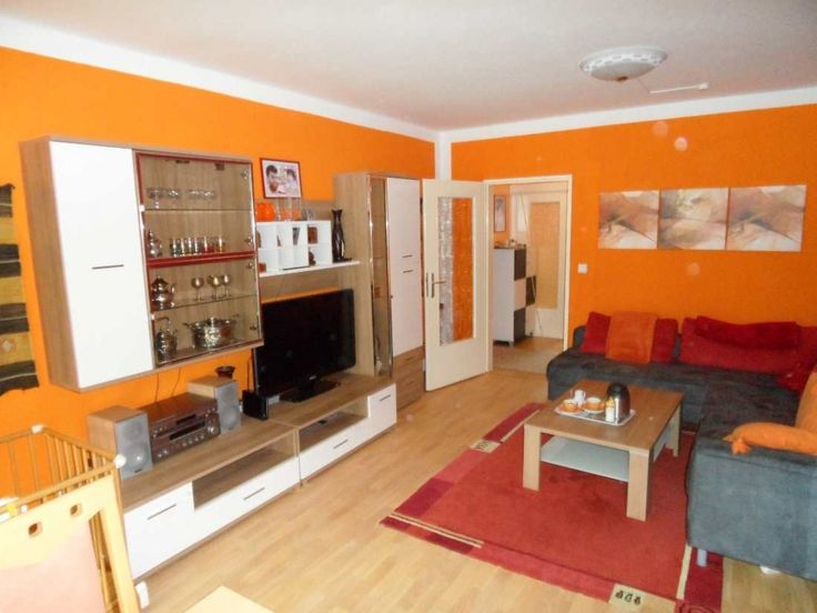 262 best Wohnzimmer ideen images on Pinterest Living room ideas - wohnzimmer orange rot