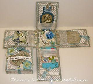 Cartes artisanales et autres projets artistiques de Liz: Une boîte à explosion pour une nouvelle retraitée!