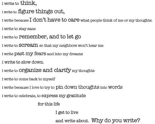 Warren wilson college creative writing prompts