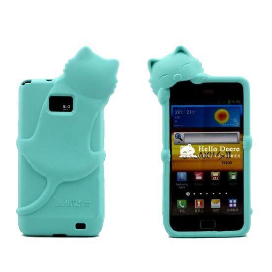 Diffie Kat siliconen telefoonhoesje voor Samsung Galaxy S2 - PhoneGeek.nl