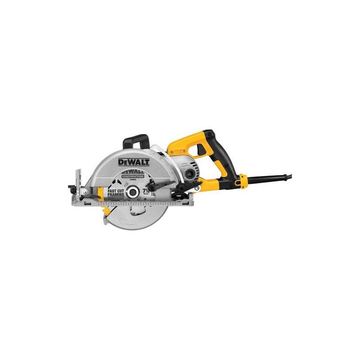 "Dewalt DWS535 7 1/4"" Worm Drive Circular Saw with 15 Amps and 2100 Watts Power Tools Saws Circular Saws"