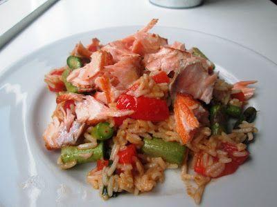 En verden af smag!: Asiatisk Ris med Laks, Asparges og Kokos