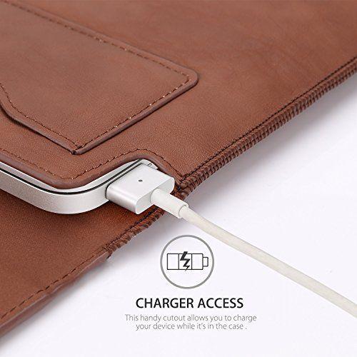 MacBook Air 11 6 inch Laptop Sleeve Case Moko PU Leather Sleeve Wallet Case Bag…
